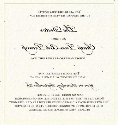 Hoe maak je een bruiloft uitnodiging schrijven e y